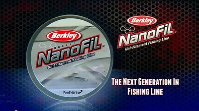 Berkley Nanofil 10 lb 150 yards, Clear Mist,  NEW