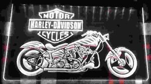 Affiche DEL Harley bike LED Sign.