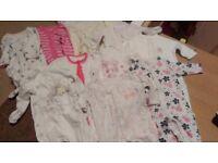 Onesie/sleepsuit bundle 0-3 girls
