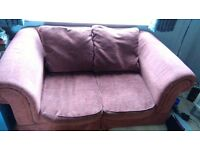 2 Chesterfield style 2 seater sofas