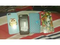 IPhone5s cases and one Samsung s4 case