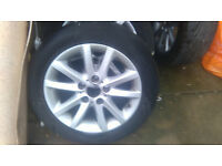 4 bmw 16inch alloy with tyres