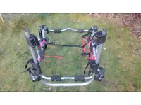 **REDUCED** Rear mounted bike rack - carries 3 bikes