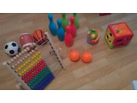 Baby Toys - Bowling set, Soft ball pack, Activity cube, Abacus and soft toys