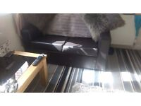 Small 2 seater leather sofa brand new quick sale 20 pound