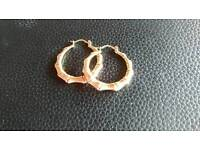 9ct gold bamboo style earrings