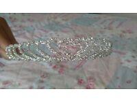 Lovely silver heart design tiara