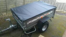 Metal cheap trailer galvanized tipper. Easy to load. Easy to tow