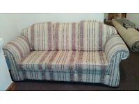 Floral large sofa - 1 x Large 3 seater & 1 x footstool. Great condition at £75, negotiable