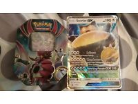 Pokemon Hoopa TIN with cards, plus Giant Snorlax GX, SM05 PROMO CARD