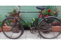 Antique push bike.