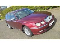 ROVER 75 TOURER (CONNOISSEUR) WITH A FULL YEAR MOT