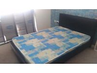 Double bed with headboard, very good condition + matress