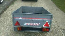 Erde metal trailer. Tipper tailgate mint fog lights electric