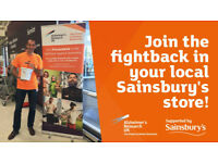 Join Alzheimer's Research UK's supermarket collection crew in Throckley, Newcastle