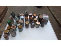 various jars of nuts bolts screws etc