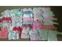 Huge bundle of baby girl clothes 0-3 months