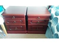 Two bedside cabinets in immaculate condition