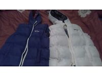 2 x Lee Cooper Junior gilets