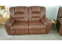 DFS Emporer Soft Leather Sprung Sofas 2 x 2 seater (3 seater option)
