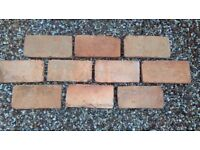 Reclaimed brick tiles (slips)