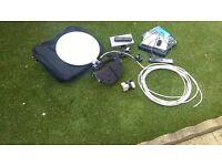 CARAVAN AND CAMPING SATELLITE TV SYSTEM PORTABLE SATELLITE DISH RECEIVER KIT