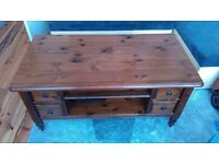 solid and heavy coffe table or tv unit