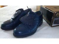 Footjoy Dryjoy Golf Shoes, size 7. Navy, waterproof leather