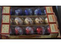 Santas Workshop Christmas Decorations - Shatterproof Ornaments (3 boxes of 5 Baubles)