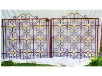 Almost antique wrought iron gates.