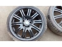 "BMW set of wheels and tyres / 19"" replica M3 / 5 x 120"