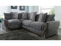 New Annie grey corner sofa FREE DELIVERY