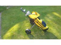 Childrens Golf clubs, Bag & trolley