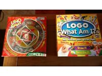 Pair of games, LOGO and UNO SPIN
