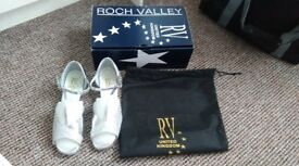 Pair of silver Roch Valley Ballroom shoes size 5