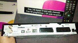 HD Digital Box - Goodmans - GFSAT200HD/A. Receives over 140 subscription free channels + IP TV.