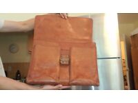 VINTAGE ENGLISH HIDE LEATHER BRIEFCASE