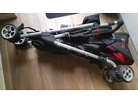 Double pushchair buggy stroller