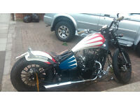 Captain America style ajs 2011 cool retro BOBBER 125cc with 6500 miles on the clock