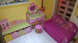 Girls princess bed room play room furniture