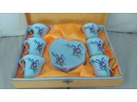 Malaysian tea/coffee set for 6 people - brand new and unopened in presentation box, make lovely gift