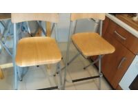 Two tall kitchen stools. Been kept in the cupboard since new so great condition.