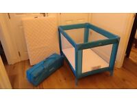 **1 left** Red Kite travel cots, barely used, mattress included
