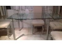 Chic, Stylish and Versatile Grenada 140 - 200cm Extending Glass Dining Table