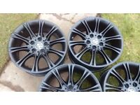 Genuine bmw Mv2 alloys 8inch front and 8.5 rear