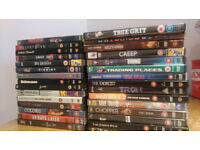 30 action movie DVDs in good condition