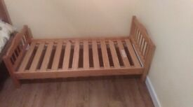 toddler bed 28 inch x 58 inch in good condition