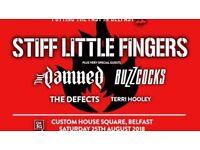 2 x Stiff little fingers Ticks - chsq belfast