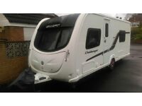 Swift Challenger 565 SR 4 Berth touring Caravan (2012) With Fixed Single Beds and Motor Mover