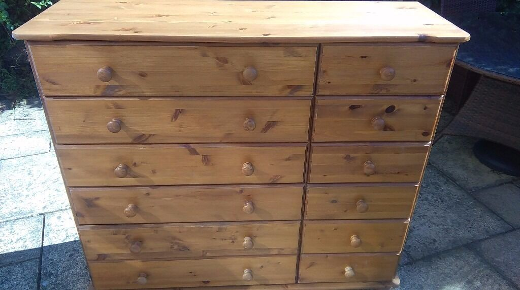 Early Victorian Large Pine Chest Of Drawers Pinefinders Old Furniture Warehouse